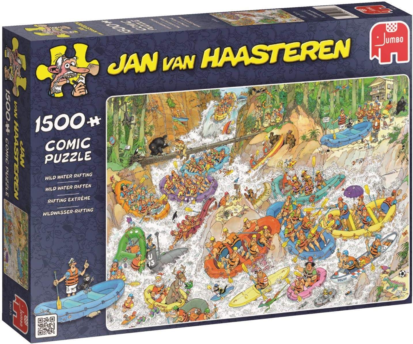 Jumbo Jan Van Haasteren Wild Water Rafting Jigsaw Puzzle (1500 Piece)