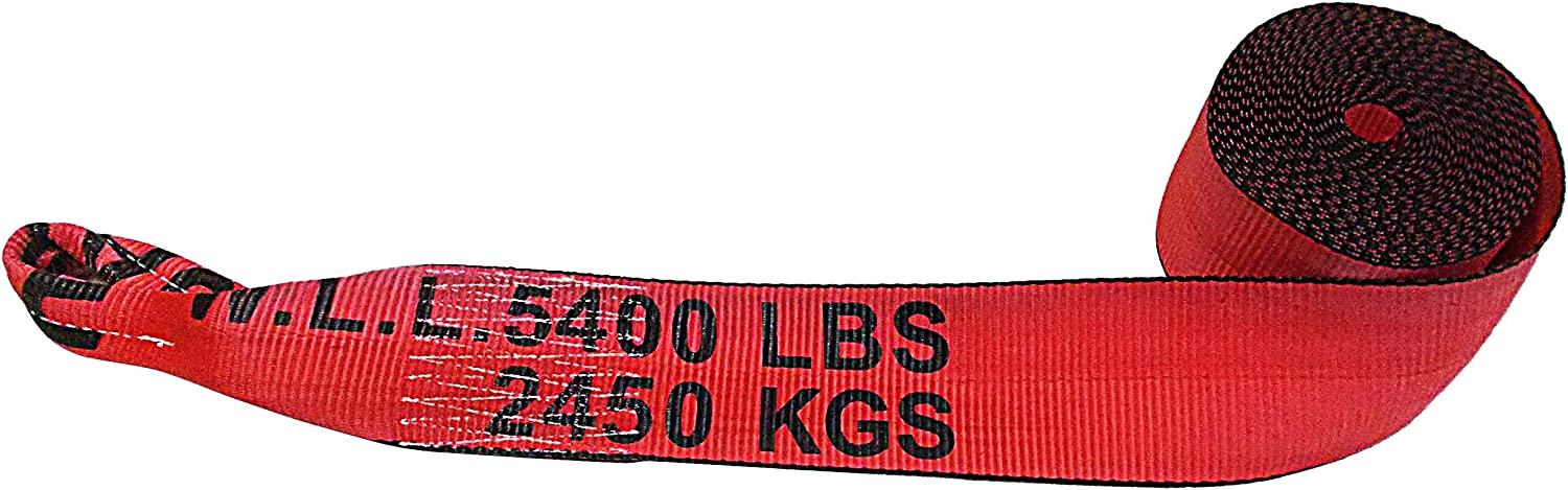 """Truck Black Pack 4/"""" x 30/' Winch Strap with Loop for Flatbed Farm Mega Cargo Control 2 Construction Heavy Duty"""