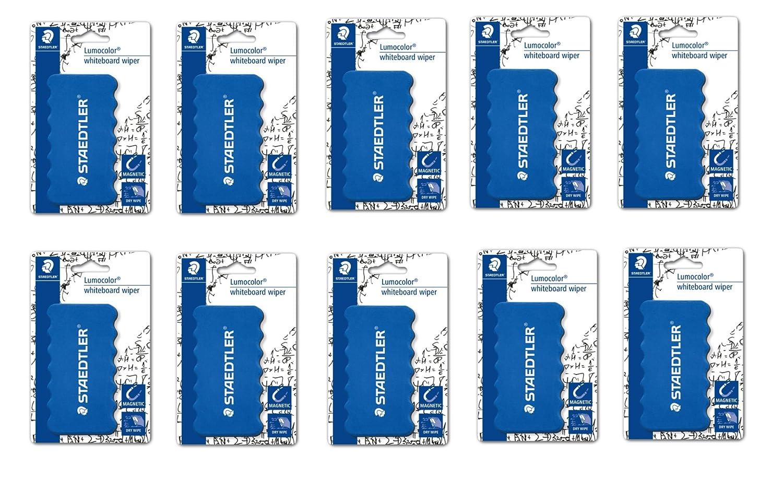 10 x Staedtler limpiaparabrisas magnético para dry-wiping de pizarras blancas (652 BK) - Pack de 10: Amazon.es: Oficina y papelería