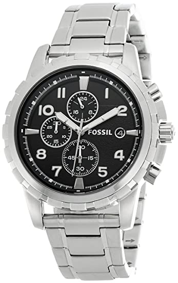 e8d6db92824 Image Unavailable. Image not available for. Colour  Fossil Dean Chronograph  Analog Black Dial Men s Watch ...