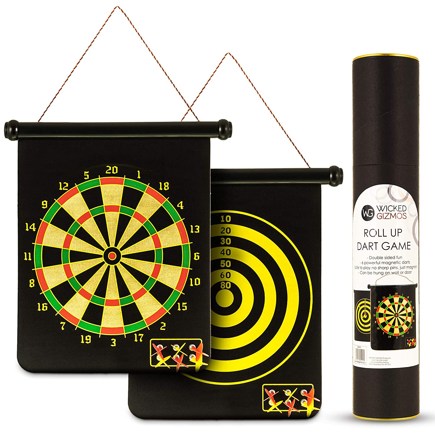 Wicked Gizmos Roll Up Dart Game Extra Large Double Sided
