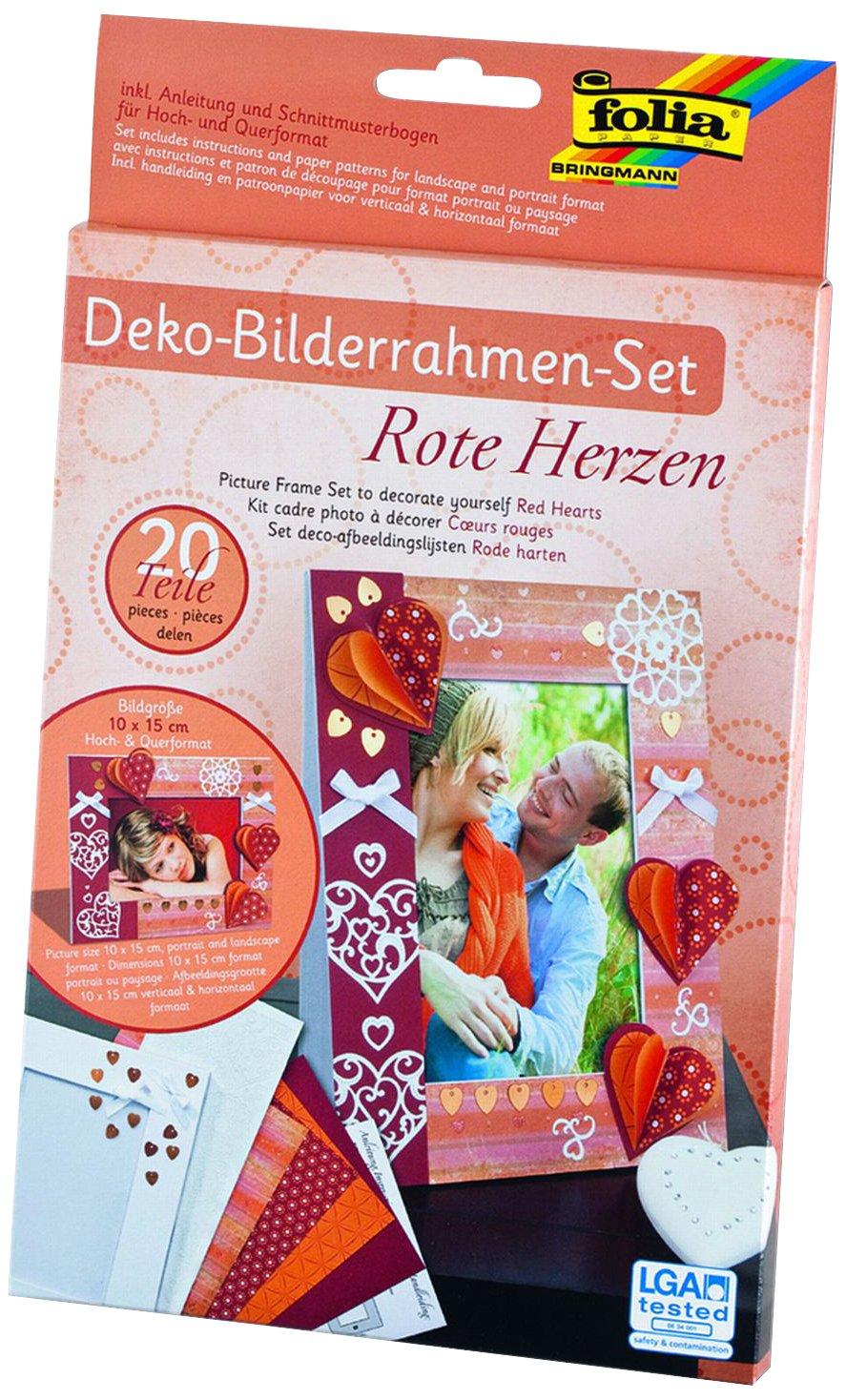 folia 23333 - Bilderrahmen - Set Rote Herzen, 20 teilig: Amazon.de ...