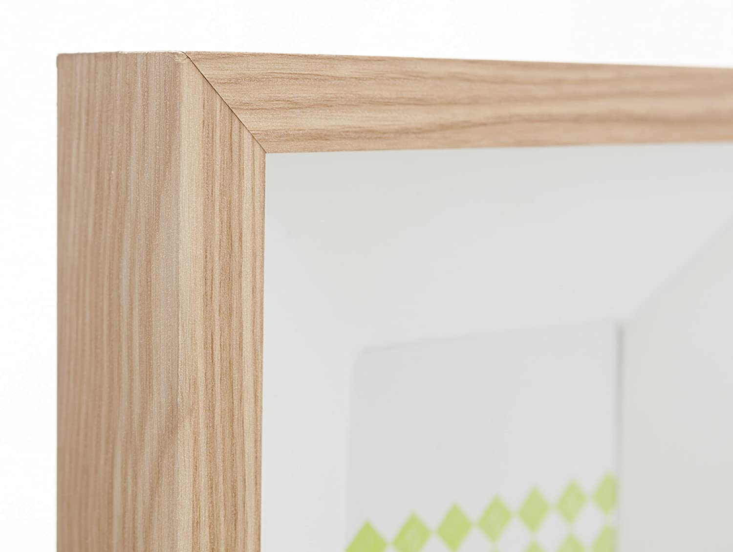 Kiera Grace Oak Finish with White Mat 4 X 6 Collage Photo Frame with 3 Openings