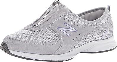 New Balance Women\u0027s WW565 Everlight Zip Walking Shoe,Grey/Purple,5 ...