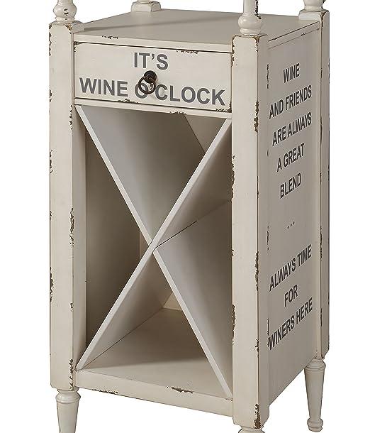 Amazon.com: Acme muebles 97462 Anthony vino clóset, blanco ...