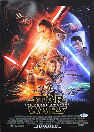 J.J. Abrams Star Wars The Force Awakens Authentic Signed 12x18 Photo BAS #C15355