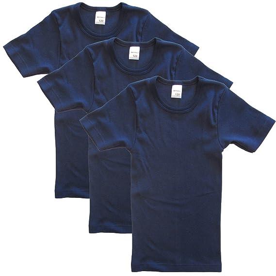 3e1a40362fa35 HERMKO 2810 Lot de 3 maillots de corps enfant pour garçon + fille:  Amazon.fr: Vêtements et accessoires