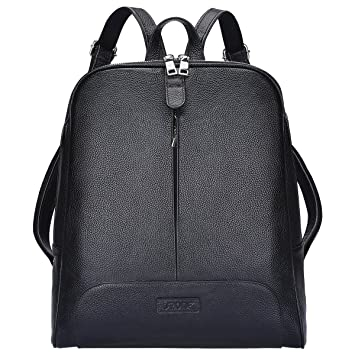 Amazon.com  S-ZONE Women Genuine Leather Backpack Purse Travel Bag Fit  14-inch Laptop  Pennybuying 1e5557c567