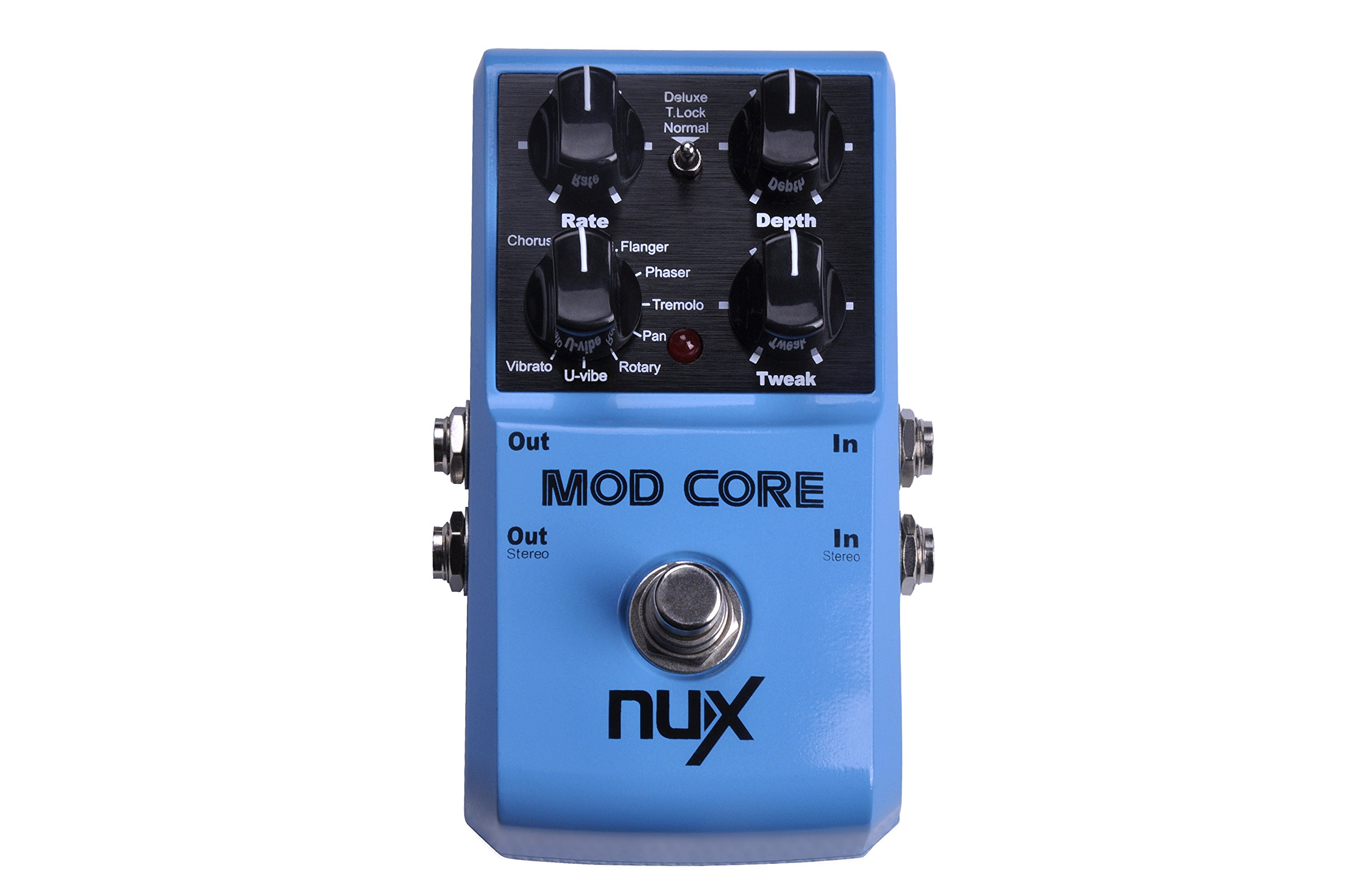 NUX Mod Core Guitar Effect Pedal 8 Modulation Effects Preset Tone Lock by NUX