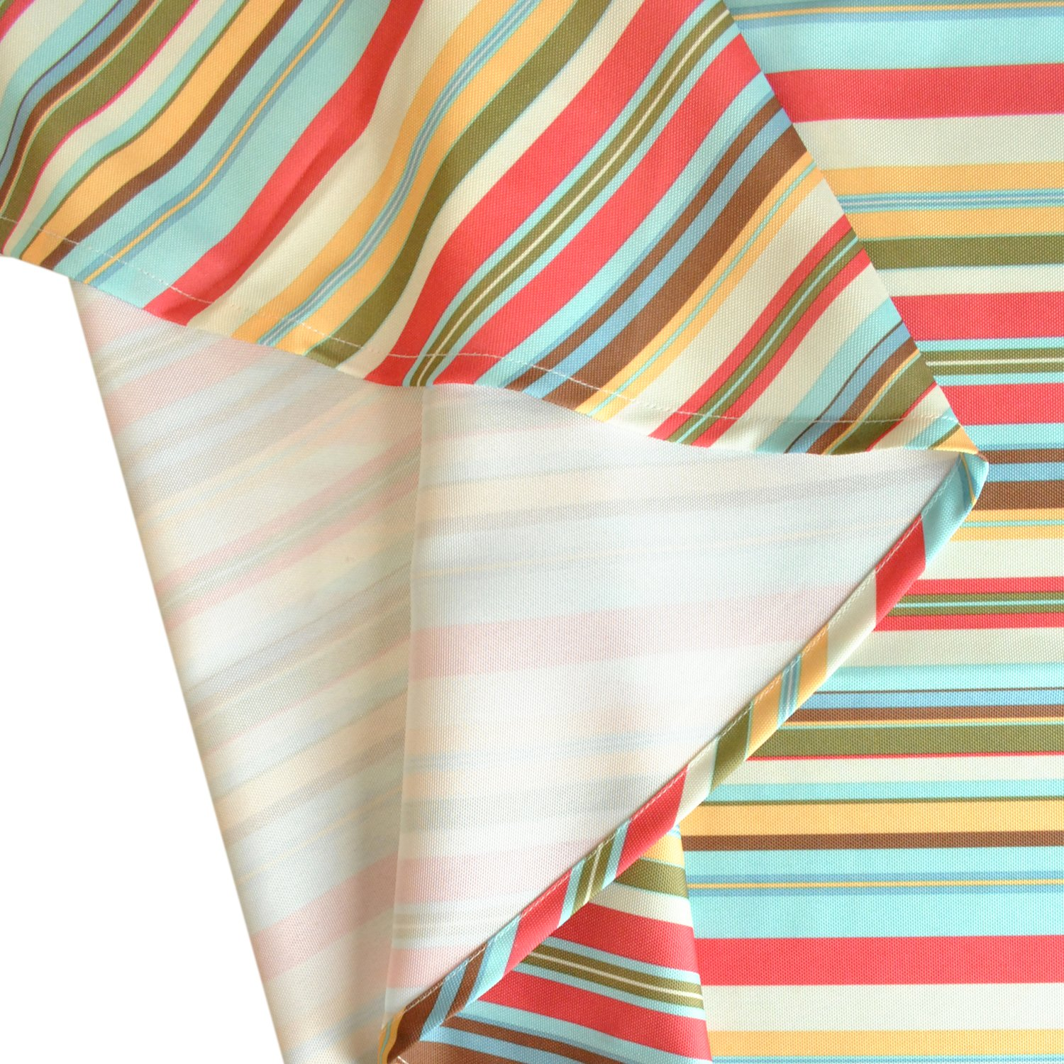 DII Spring & Summer Outdoor Tablecloth, Spill Proof and Waterproof with Zipper and Umbrella Hole, Host Backyard Parties, BBQs, & Family Gatherings - (60x84'' - Seats 6 to 8) Warm Summer Stripe by DII (Image #6)