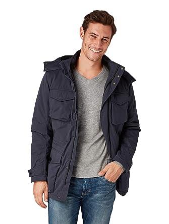 TOM TAILOR für Männer Jacken   Jackets Jacke mit Abnehmbarer Kapuze Knitted  Navy, ... 3dbd3902eb