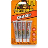 Gorilla Clear Grip Contact Adhesive Minis, Waterproof, Four .2 ounce Tubes, Clear