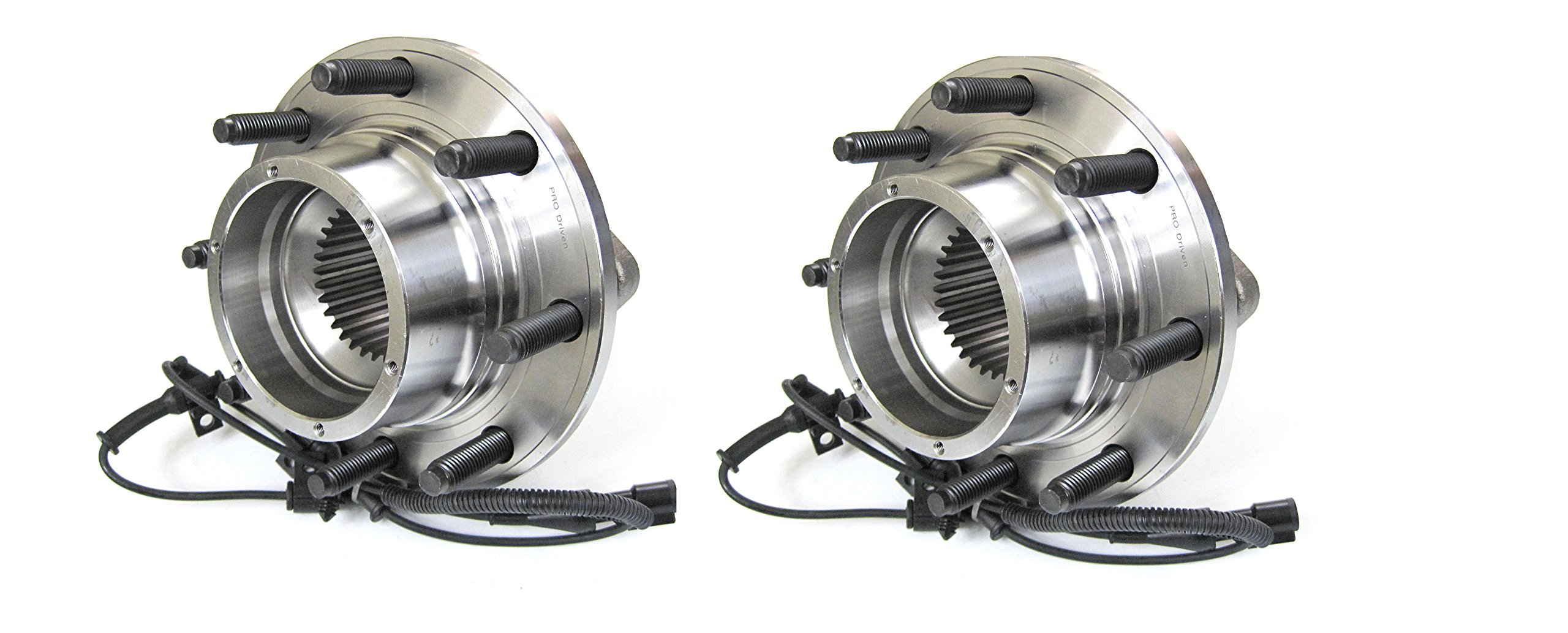 Pro Driven (Both) 515082 Wheel Bearing & Hub Assembly Ford F250/F350 4WD 2005 to 2009 w/ ABS Front -2 PCs