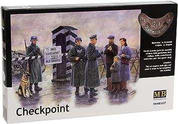CHECKPOINT SENTRY BOX CIVILIAN DOG 1//35 MASTER BOX 3527  DE