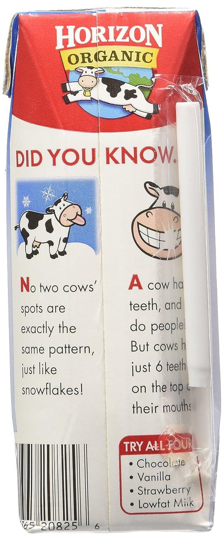 amazon com horizon organic 1 low fat milk 8 ounce aseptic