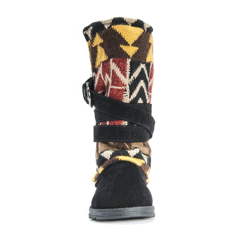 MUK LUKS Women's B01JYU5CS6 Nikki Belt Wrapped Boot B01JYU5CS6 Women's 10 B(M) US|Black 82cae5