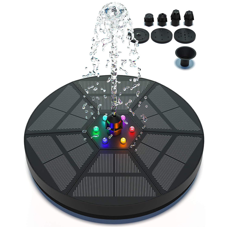 Solar Pond/Fountain Pump for Bird Bath Including Light