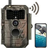GardePro E6 Trail Camera WiFi Bluetooth 24MP 1296P Game Camera with No Glow Night Vision Motion Activated Waterproof for Wild