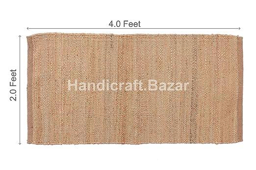 Handicraft Bazar Alfombra India de Yute de 2 x 4 pies F ...