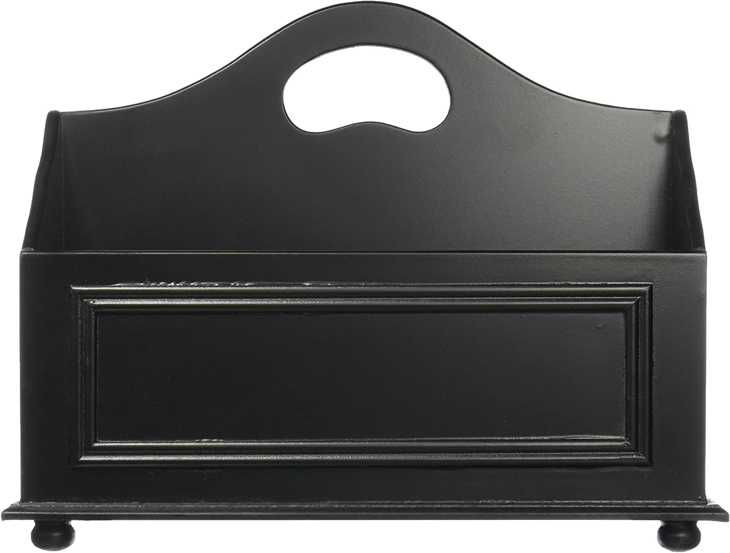 Designstyles Wood Magazine Rack, Black