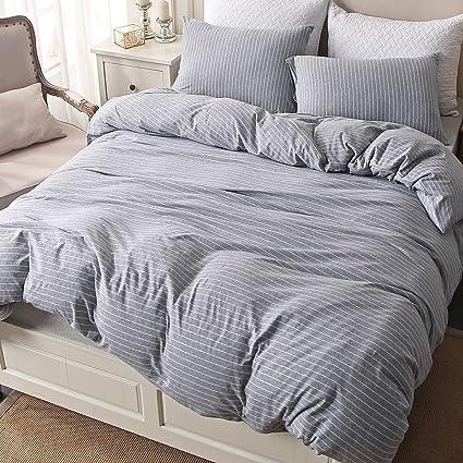 Amazon Com Pure Era Bedding Duvet Cover Set 3 Piece Cotton Jersey