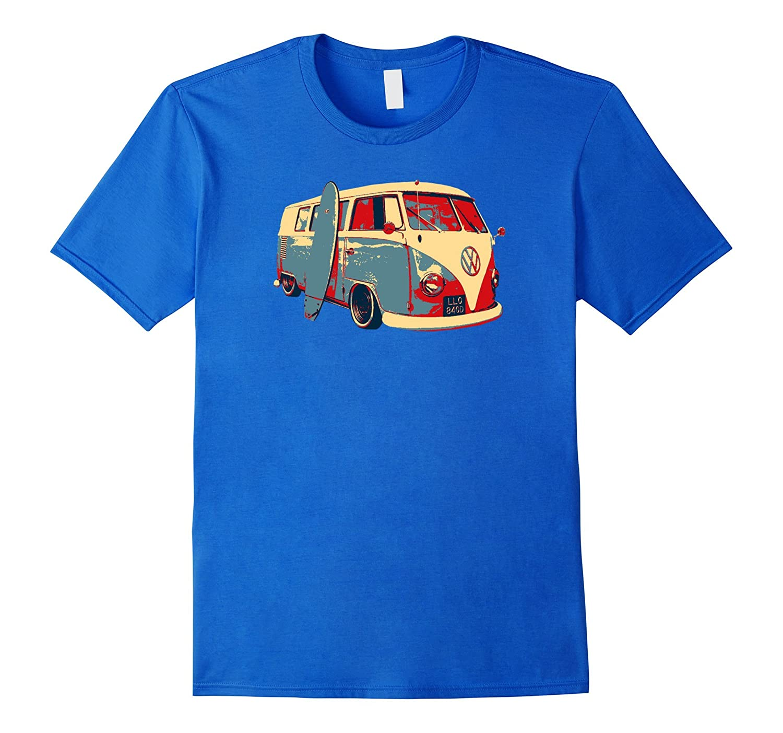 e4c17c9e2 Surfing California Vintage Retro Bus 60s 70s T-Shirt-BN – Banazatee