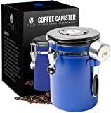 Bean Envy Airtight 22.5 oz Stainless Steel Coffee Canister