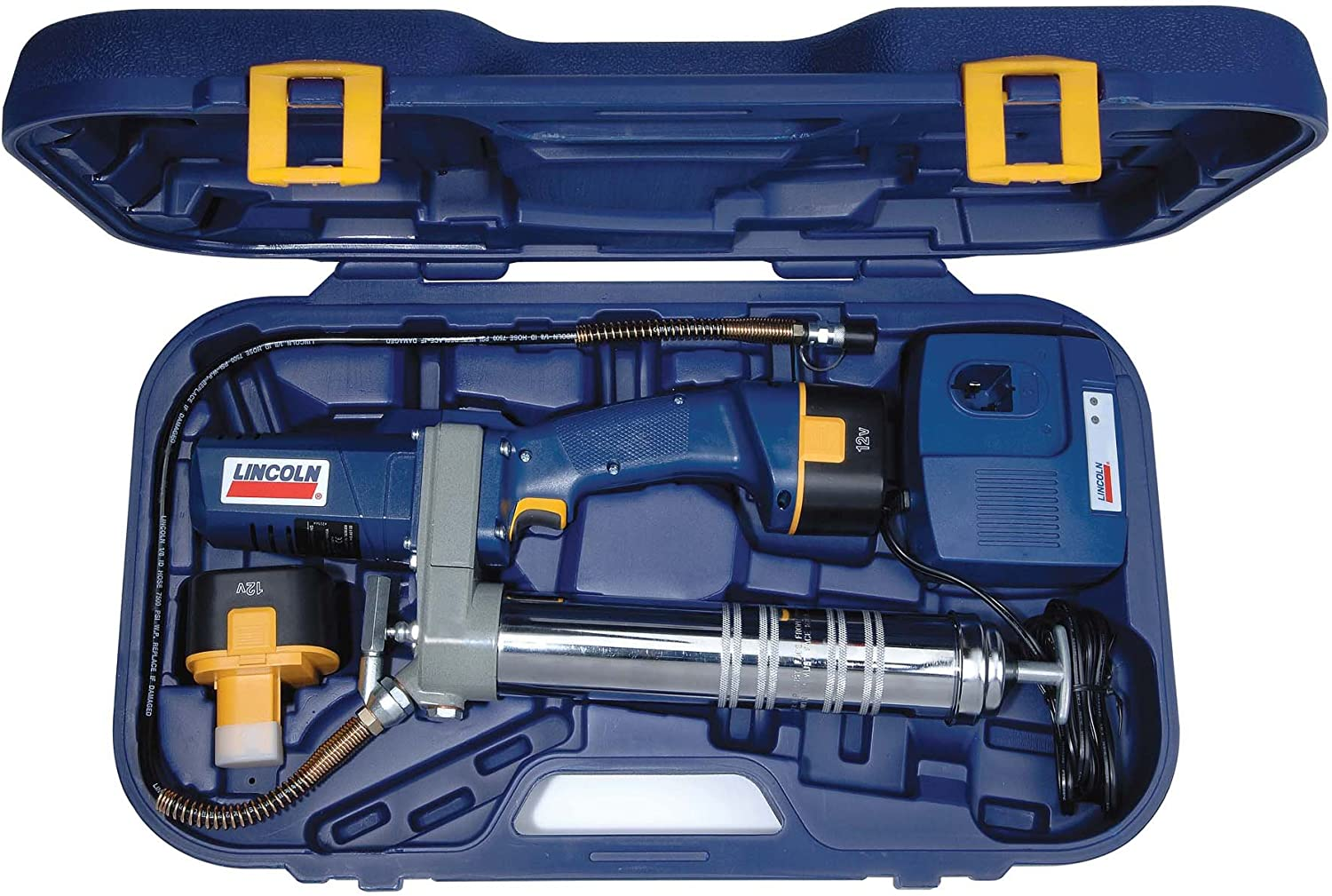Amazon.com: Lincoln Lubrication 1244 PowerLuber 12 Volt Cordless Grease Gun  with Battery Kit: Automotive