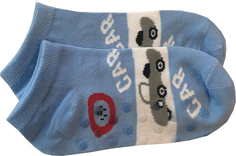 altezza caviglia Modello Estivo Fantasmino Kids Socks 6 Paia Calze Calzini Corti Bambino In Cotone Colorati Antiscivolo