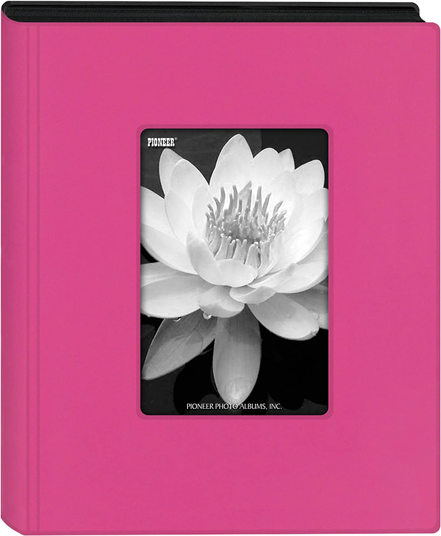 Pioneer Photo Albums KZ-46 Hot Pink Mini Frame Cover Photo Album, 4