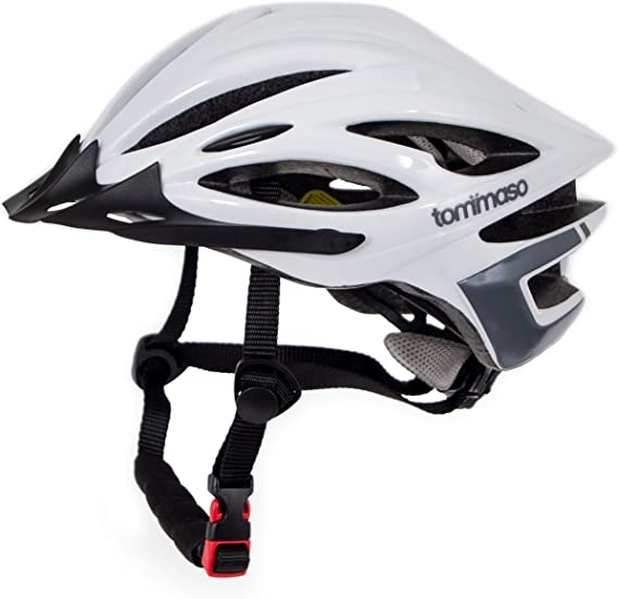 Tommaso Ombra - Holiday Special Pricing - Lightweight Cycling Helmet Removable Visor Road & MTB Bike Adjustable Fit 4