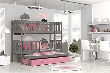 Etagenbett Für 3 : Etagenbett hochbett kinderbett doppelbett severy für