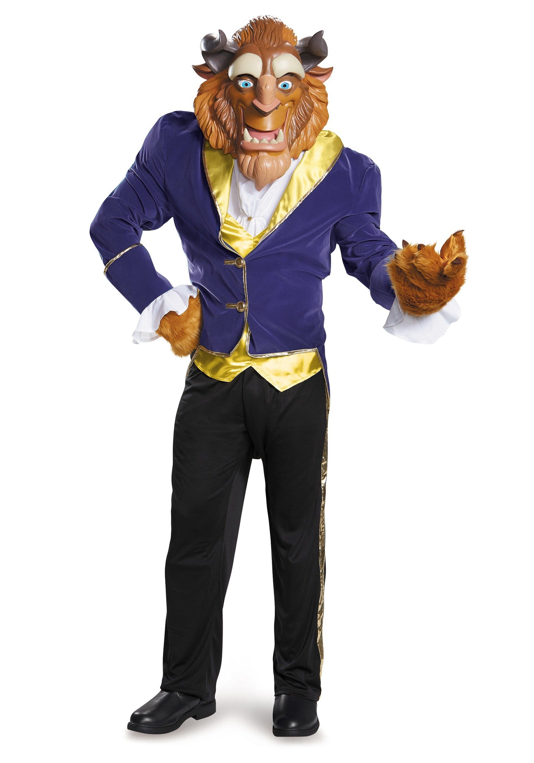 Disguise Men's Beauty and The Beast Ultra Prestige Costume, Blue, X-Large