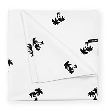 Bdsign -Toalla de Playa de Microfibra, Familiar, Gigante y Ultra Absorbente. (White Palm Trees, 185x91 cm): Amazon.es: Hogar