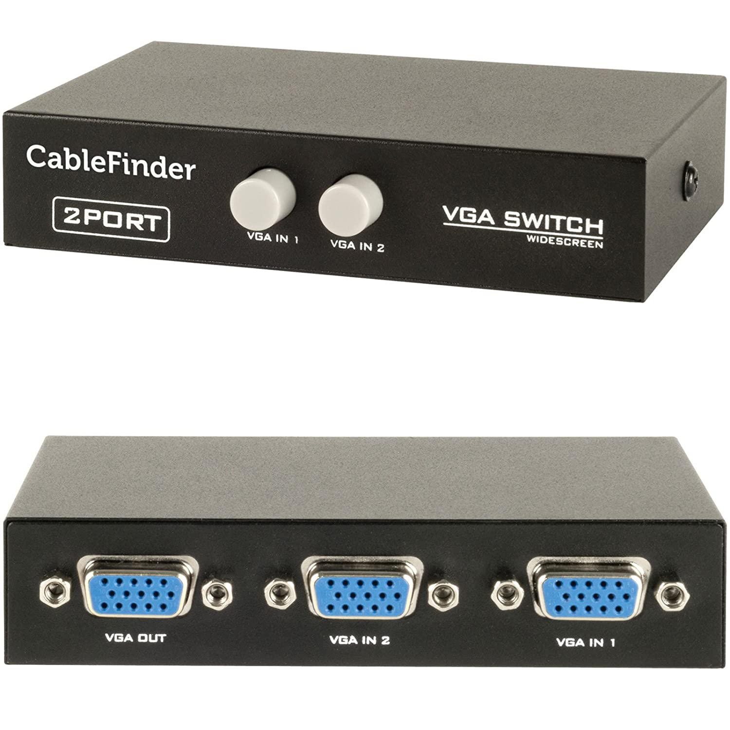 2-Port VGA switcher Video Switch Box Video Selector 2 In 1 Out For HDTV PC