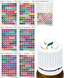 Essential Oil Labels Young Living Bottle Cap Stickers For YL EO Bottles, 7 Sheets 616 Lid Stickers For Aromatherapy Containers by Got Oil Supplies