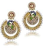 Shining Diva Fashion Jewellery Gold Plated Stylish Fancy Party Wear Pearl Jhumka Jhumki Traditional Earrings For Women & Girls(Golden)(sd6546er)