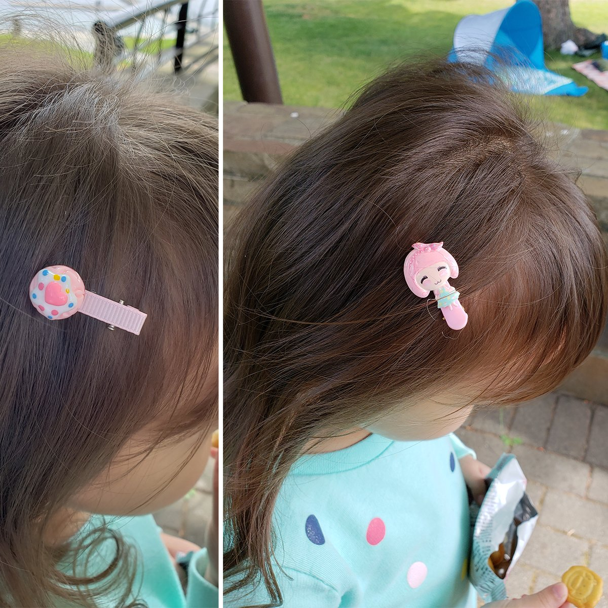 Hair Accessories for Girls, Hair Set Barrettes, Hair Ties, Hair Bows, Hair Clips for Toddlers, Little girls, Girls. Gifts for Birthday, Back to School, Christmas, Any special holiday-By LittleBigDream