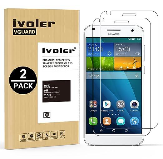57 opinioni per [2 Pack] Pellicola Vetro Temperato Huawei Ascend G7, iVoler® ** [Protezione