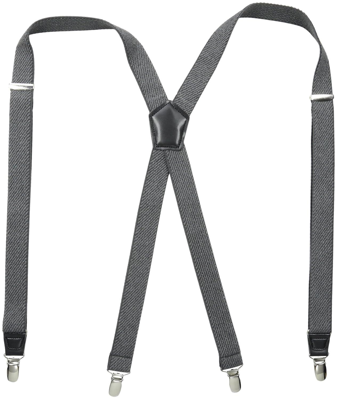 Dockers Men's Solid Suspender Black 21DK5106-Black-One Size