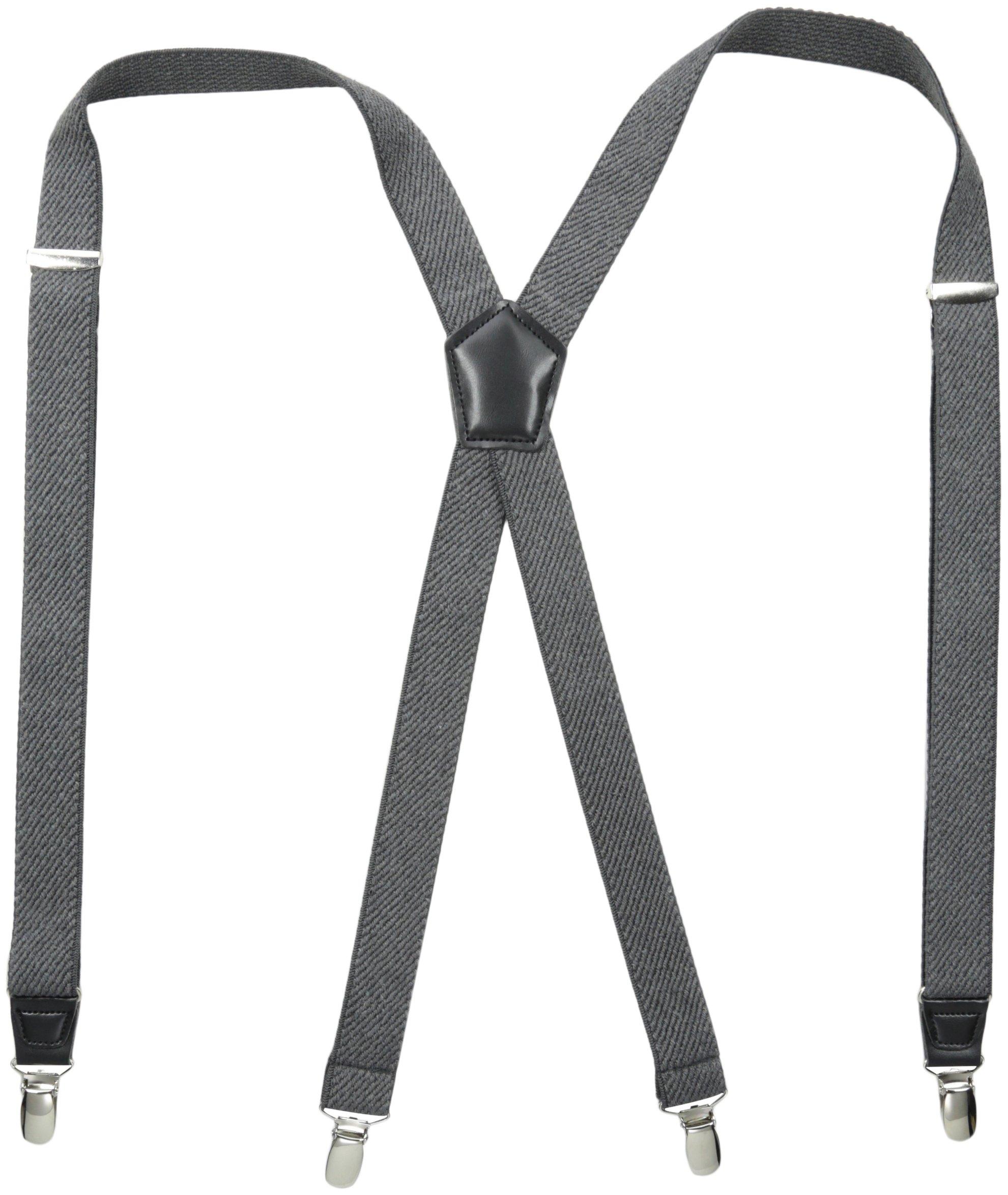 Dockers Men's Textured Solid Suspender,Gray,One Size