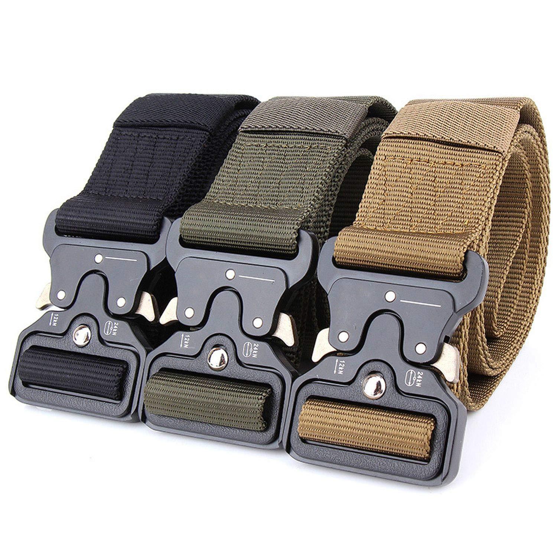 Tactical Belt Automatic Buckle Belt Training Waistbelt Nylon Belt
