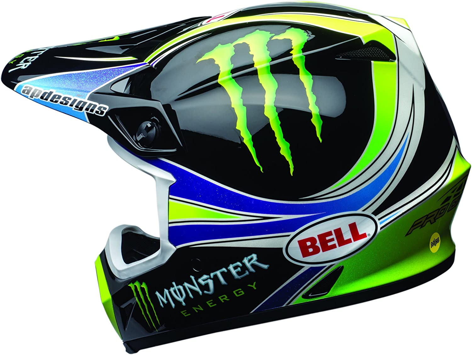 Bell MX-9 MIPS Off-Road Motorcycle Helmet Pro Circuit Replica 18.0 Gloss Green, X-Large
