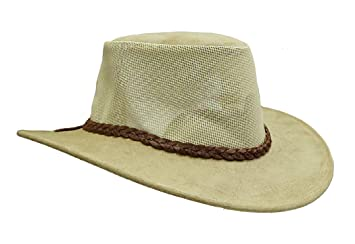 a19f4eefe90 Kakadu Bendigo Australia Leather Hat Australian Made with airy Mesh Insert