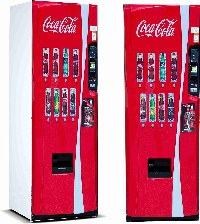 Pegatinas 3D Vinilo para Frigorifico Máquina expendedora Cocacola | Varias Medidas 185x60cm | Adhesivo Resistente y de Fácil Aplicación | Pegatina Adhesiva Decorativa de Diseño Elegante