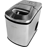 London Sunshine® Full Body High Grade Stainless Steel SS304, Portable Ice Maker for Countertop - Makes Ice Within 9 Min Up to 26 lbs/Day - Ice Scoop and 1.5 lbs Ice Storage Bin