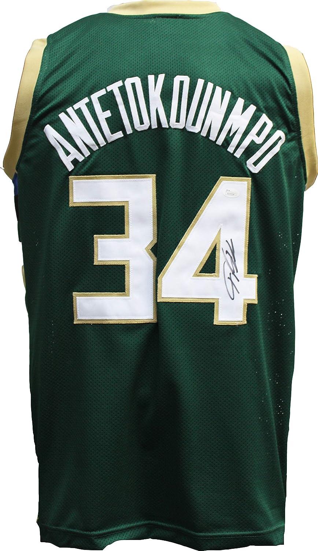 87b209c5 Giannis Antetokounmpo Autographed Signed Greek Freak Basketball Jersey JSA  COA Milwaukee Bucks at Amazon's Sports Collectibles Store