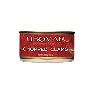 GEOMAR Chopped Clams – Safely Preserved in Natural Brine – 6.5 Ounce Freshly Canned Clam – High Protein Natural Food – Sustainable Product and Ready to Eat In Soups, Sauces, Pasta – Pack of 6