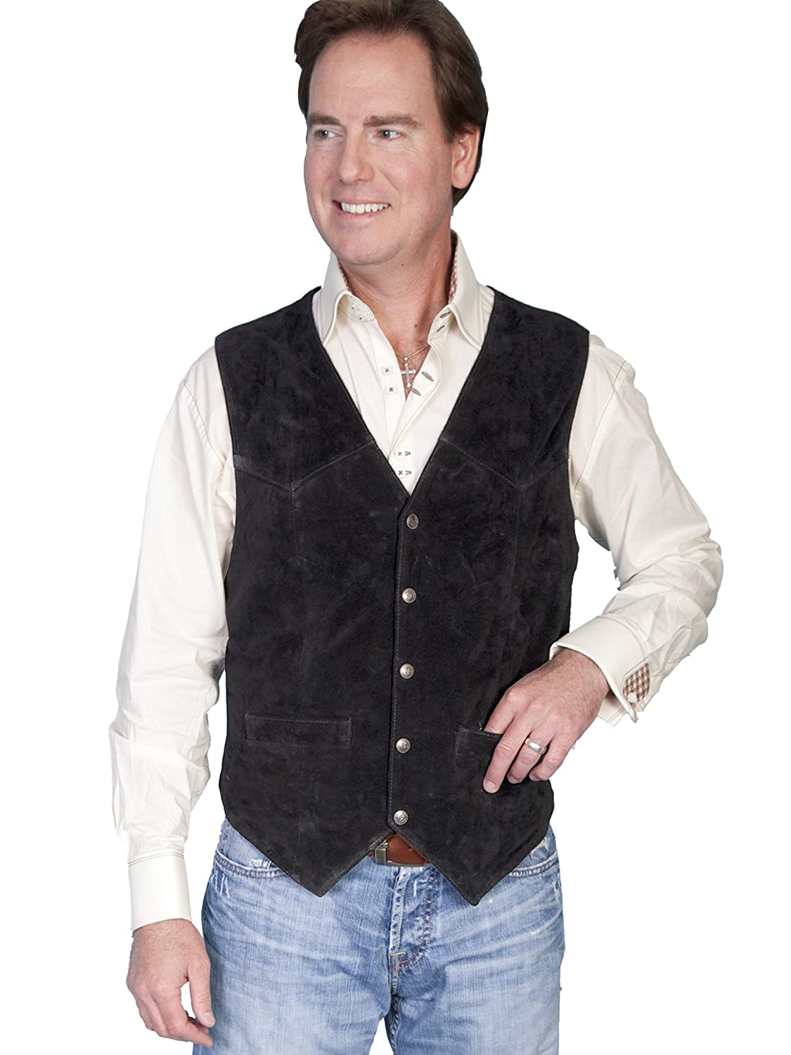 Scully Men's Cowhide Suede Vest 082B07