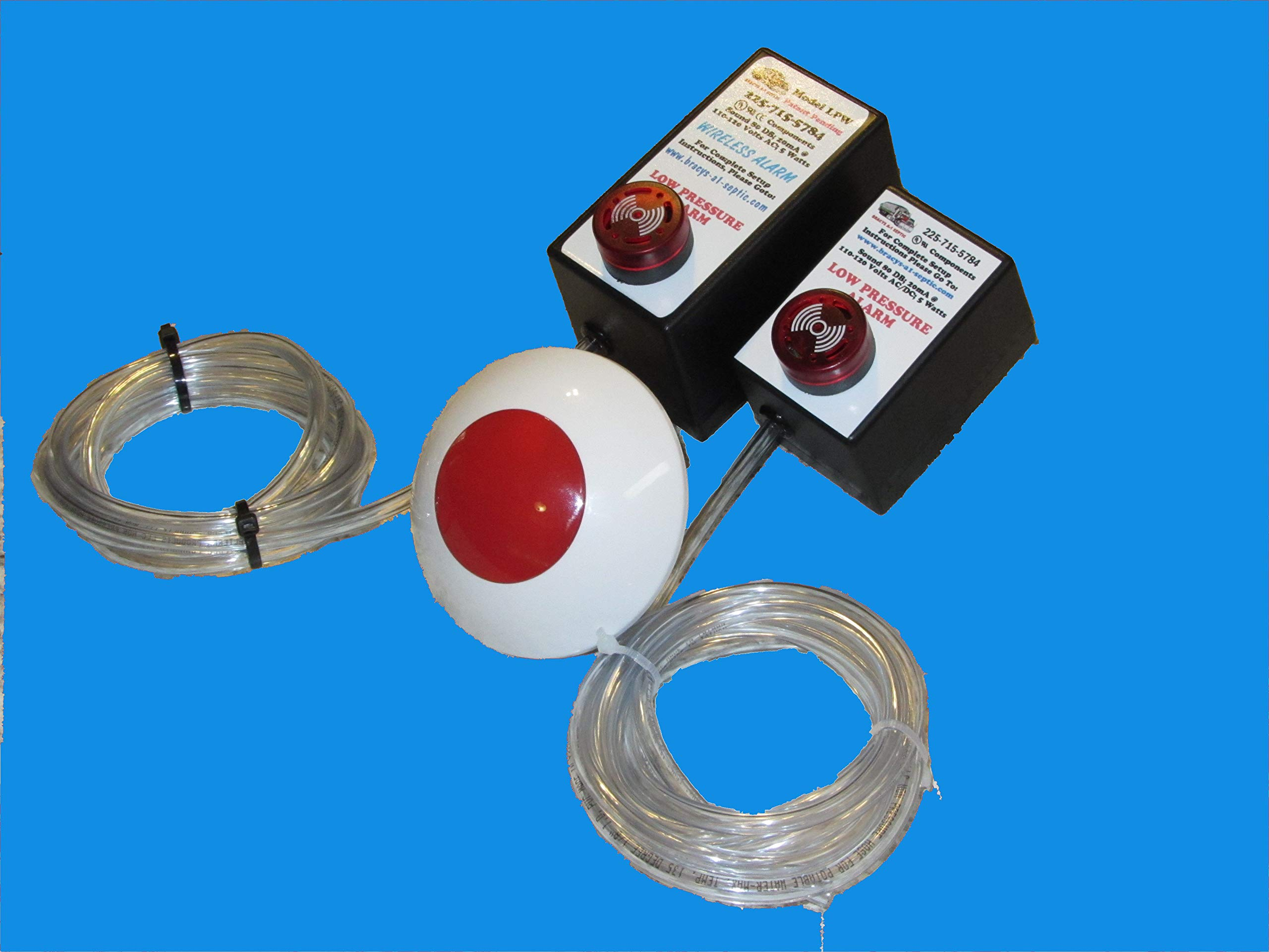 Low Air Pressure Plugin Alarm for Septic Linear Diaphragm Air Pumps (Wireless) by Bracys A-1 Septic (Image #1)
